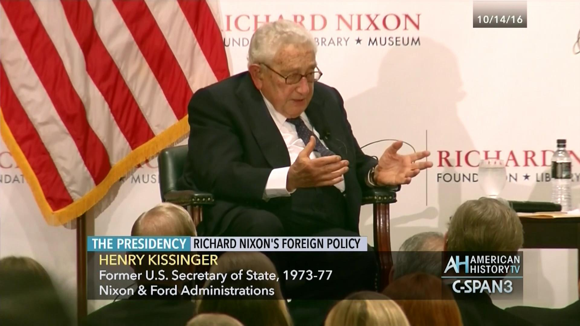 Secretary Kissinger on President Nixon's Foreign Policy