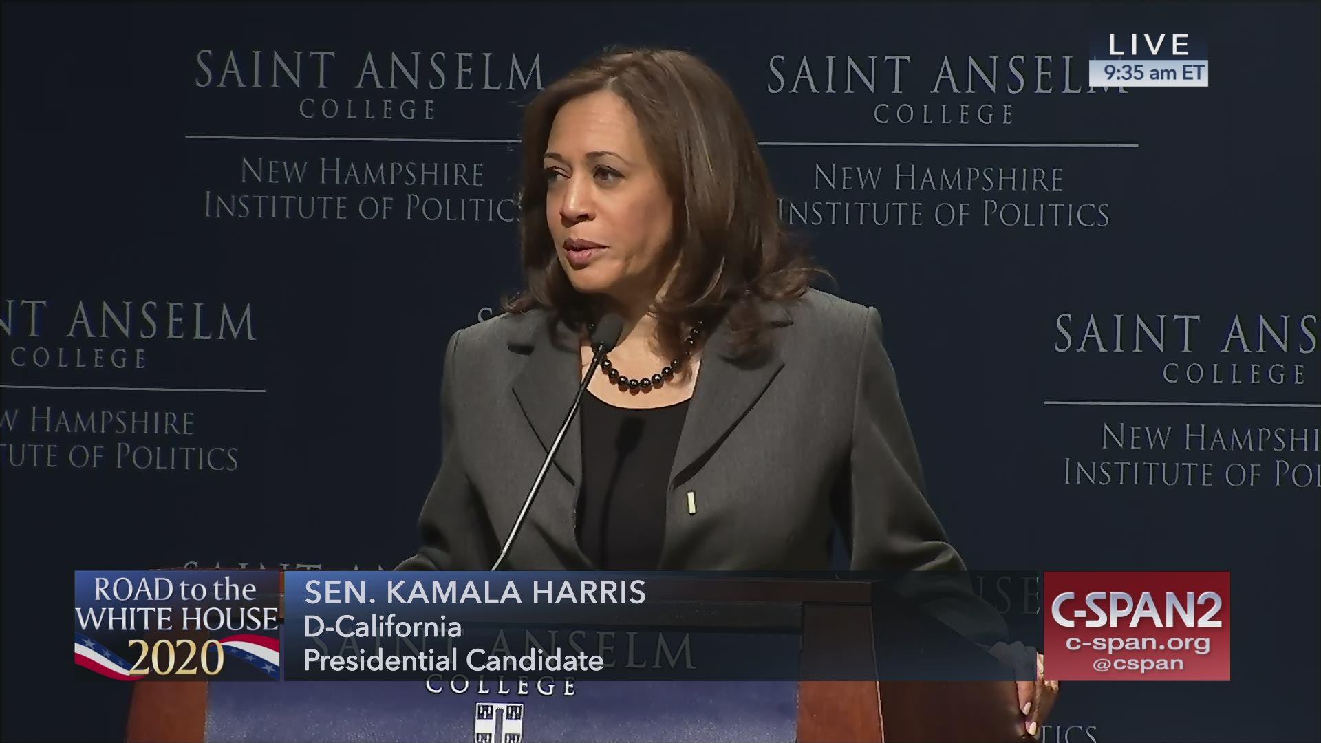 Politics And Eggs Breakfast With Senator Kamala Harris C Span Org