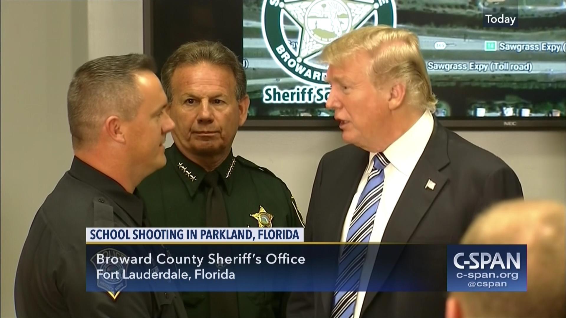 President Trump Visits Broward County Sheriff's Office