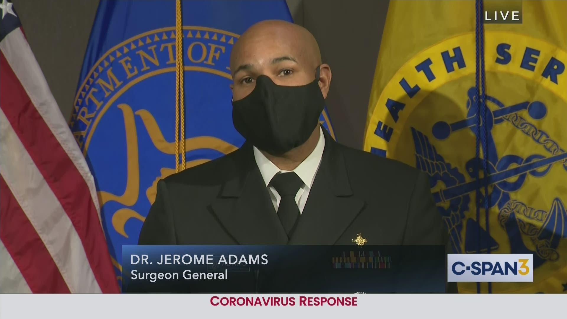 Secretary Azar And U S Surgeon General News Conference On First Covid 19 Vaccine C Span Org