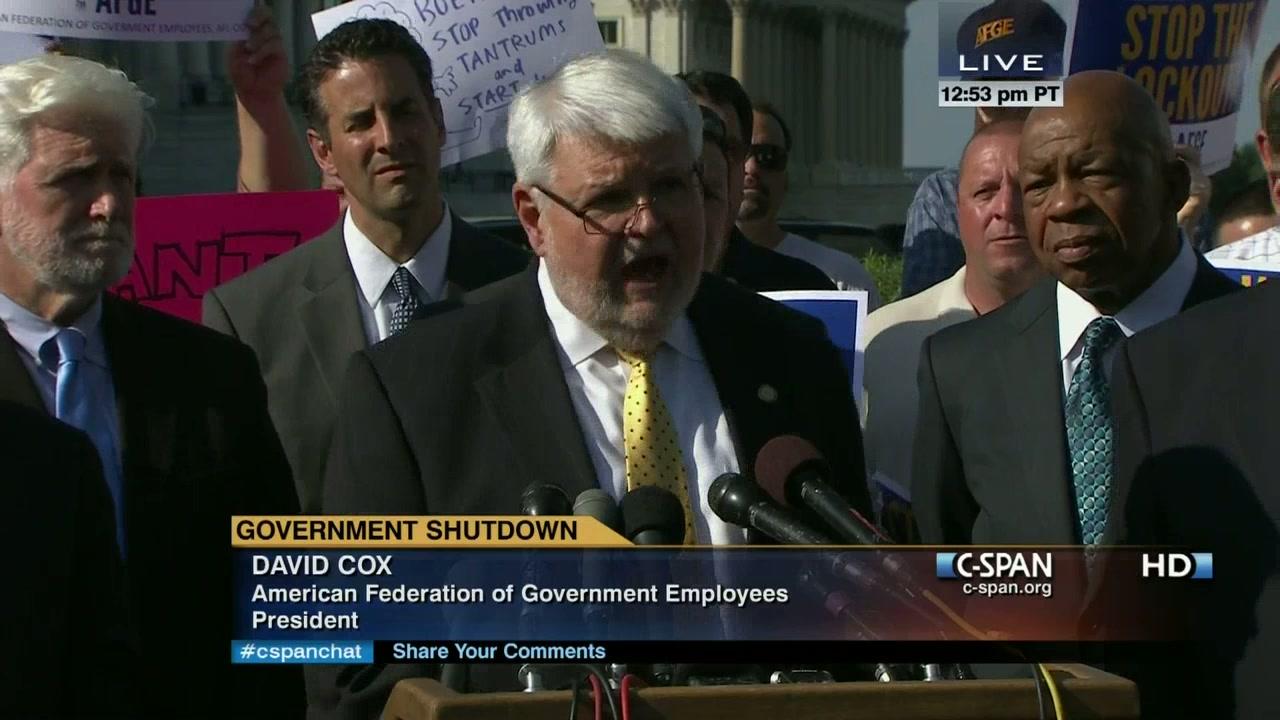 AFGE National President J  David Cox Sr  at House Democrats Media Briefing