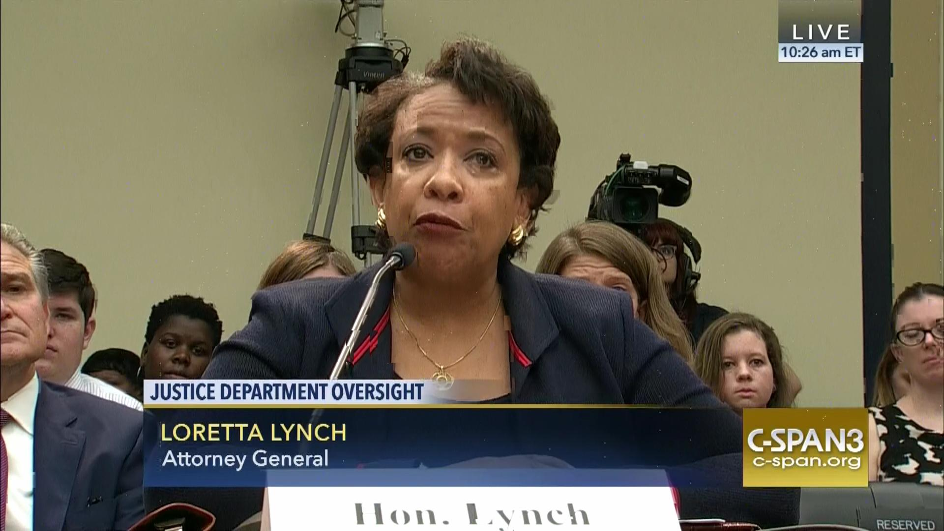 attorney general loretta lynch testifies capitol hill jul 12 2016 c spanorg. Resume Example. Resume CV Cover Letter